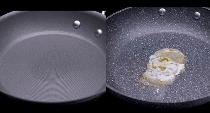 Testing the Circulon non-stick system against competitor